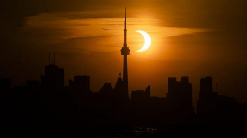 This is how the Northern Hemisphere experienced a solar eclipse