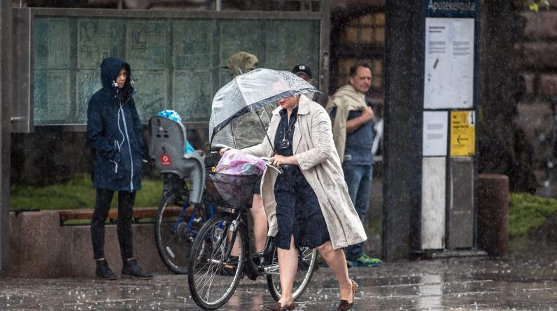 - Find warm clothes and umbrellas - VG