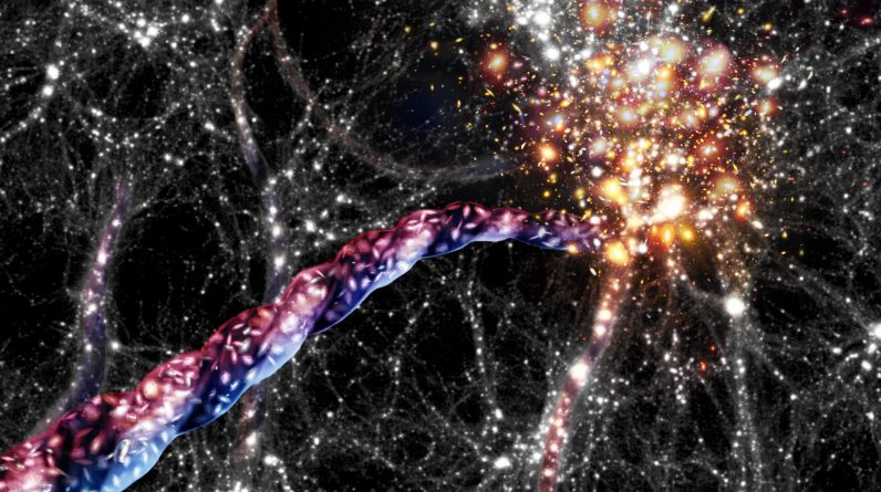 What are some of the largest known structures in the universe?