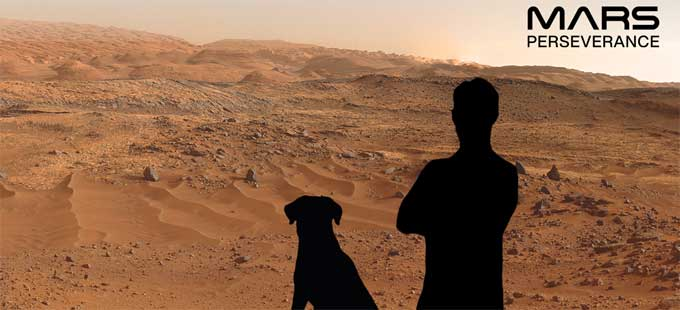 Did you take a photo with Mars ..?