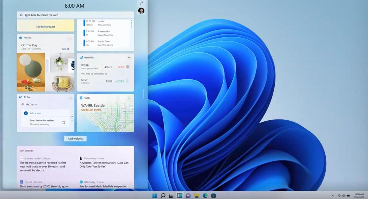 Everything is very elegant and airy: the new Windows 11.