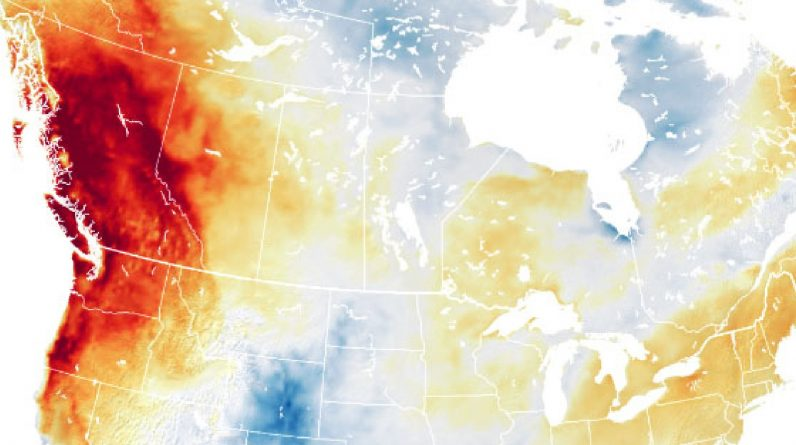 What is the heat wave recorded in Canada and the United States?
