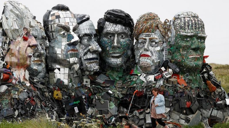 """A """"Mount Rushmore"""" waste to welcome world leaders"""
