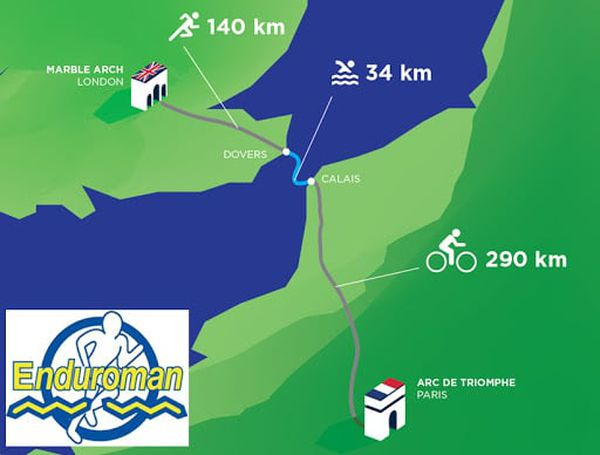 The distances of the androman make it an ultra-triathlon