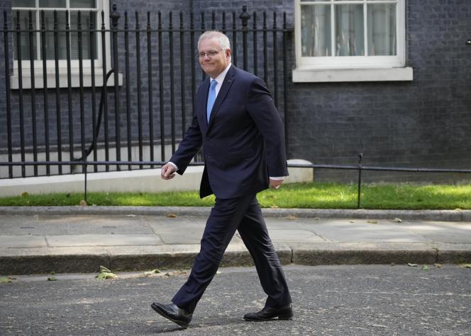 Australian Prime Minister Scott Morrison on 15 June 2021 in London.