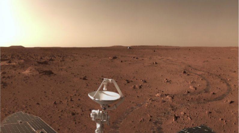China publica nuevas imágenes a color del aterrizaje y exploración en Marte de su misión Tianwen-1