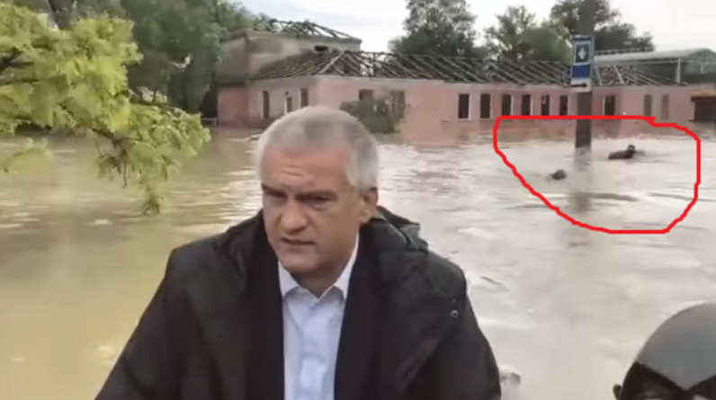 Comedy in Crimea: The president of the region visits a flooded area on a boat, while ministry staff swim behind him Video - International