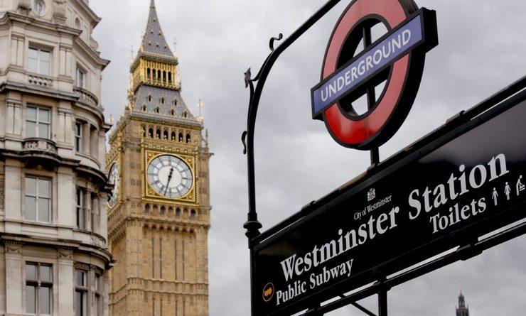 La station de métro Westminster à Londres