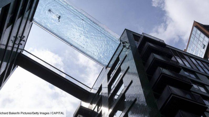 London: Incredible swimming pool between two buildings, but not for everyone