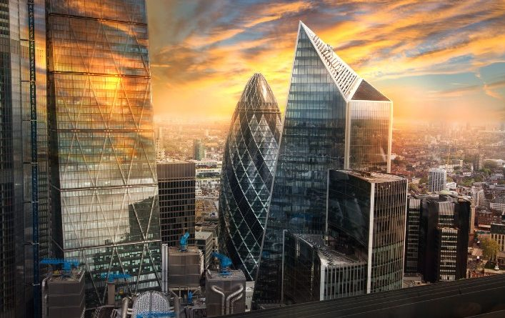 London's financial center emits twice as much CO2 emissions as the entire UK