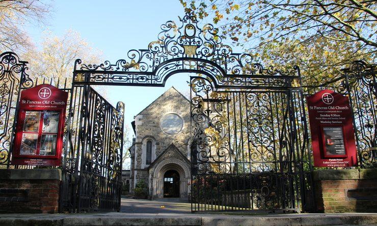 Entrée du site de St Pancras Old Church