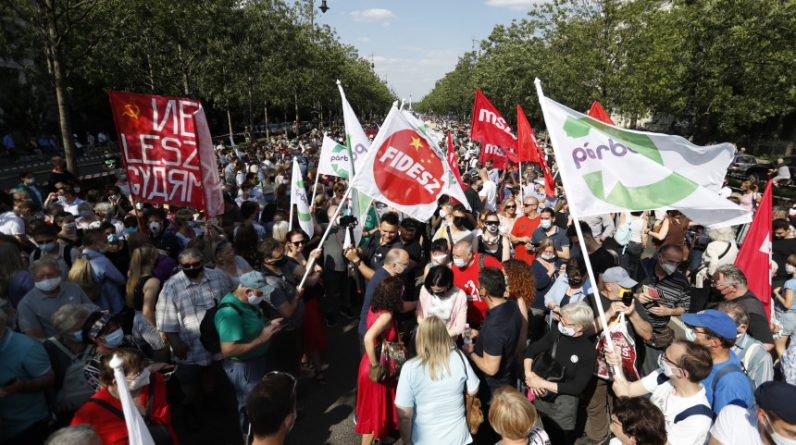 Thousands of Hungarians protest against the construction of a Chinese university campus - photo