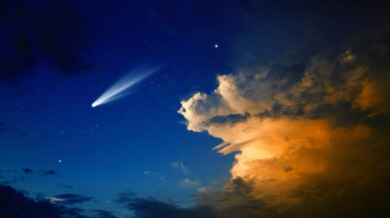 An unusual comet has crossed the Earth.  She is full of ... alcohol