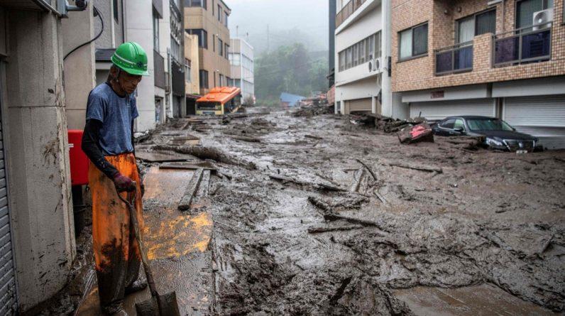 After the mass evacuation: - Dangerous landslide in Japan