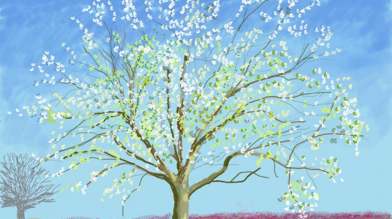 In London, David Hockney creates a spring that blooms with his Normandy paintings