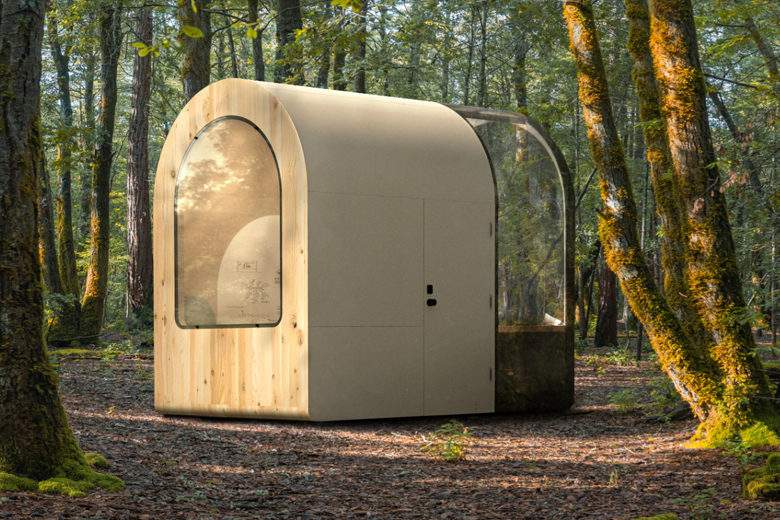 Denison Architect Smartboat: A Prefabricated Room for Working in Nature (Tele)
