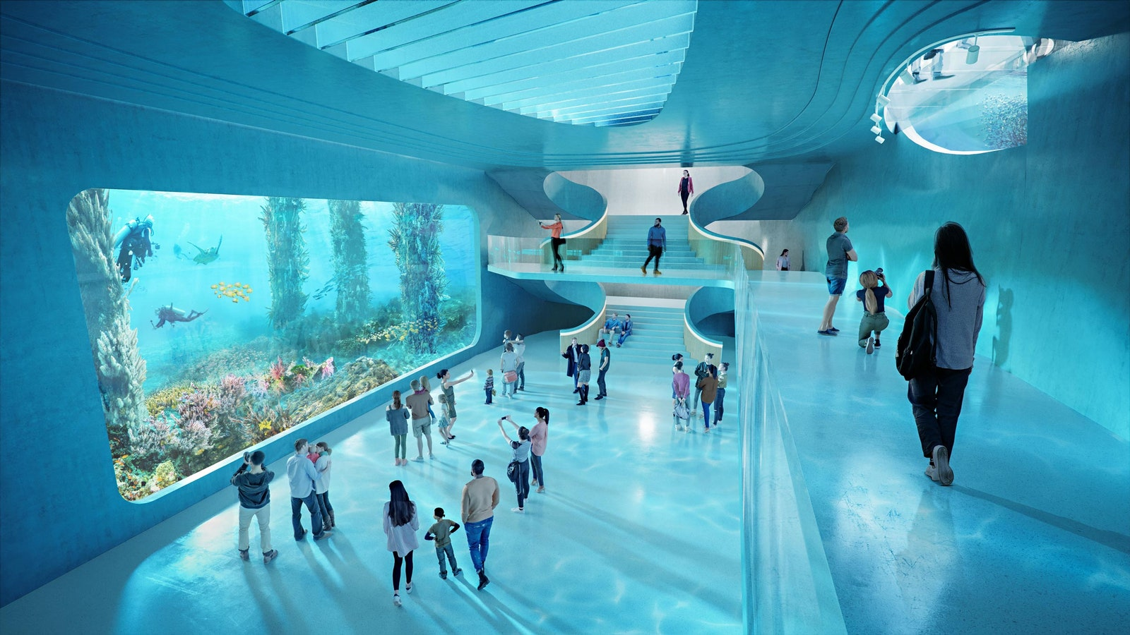 Intriue t l Underwater Ocean Discovery Center.