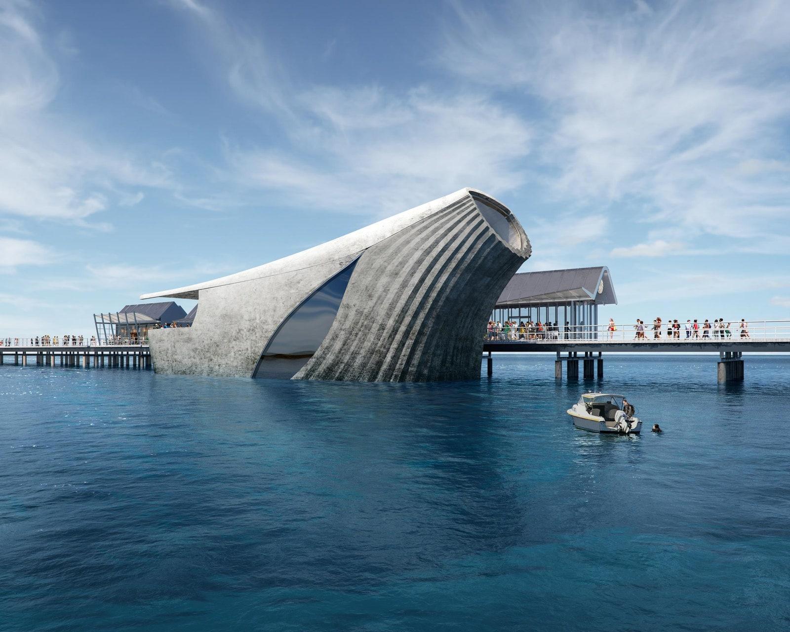 Australia will run the Natural Marine Laboratory with amazing architecture