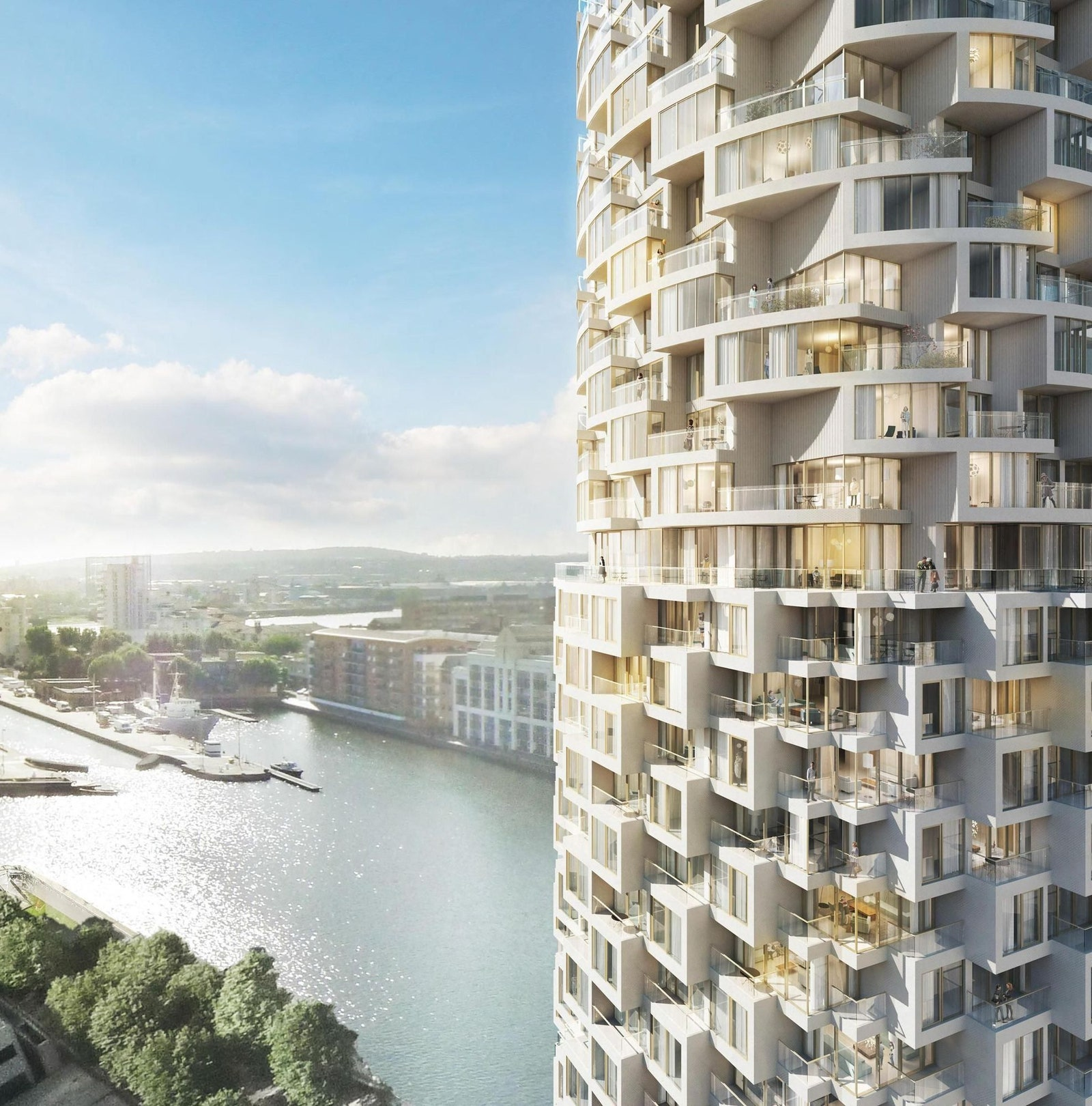 A residential tower in London signed by Herzog de Muran