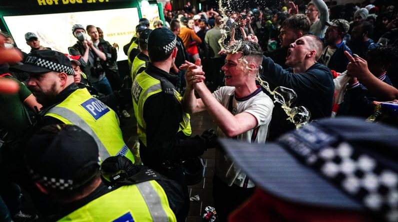 A total of 49 people have been arrested in London ahead of the Italy-England final