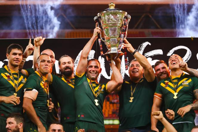 When the Australians lift the trophy for the last Rugby Union World Cup in Brisbane on December 2, 2017.