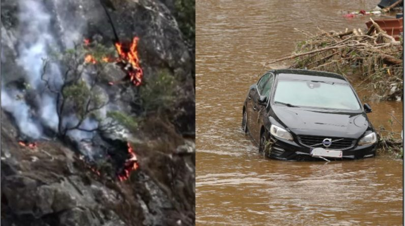 Floods in Europe, heat and fire in North America, is there a connection?