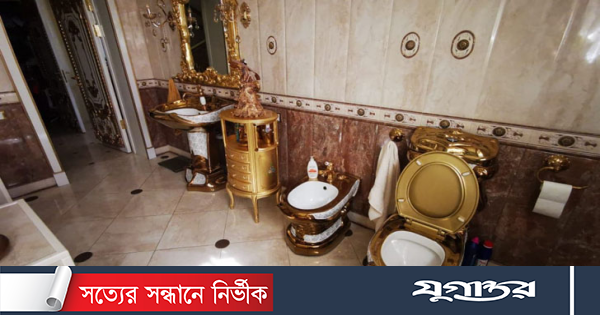 Gold toilet in the house of traffic police in Russia!