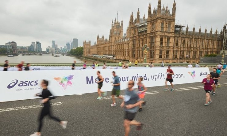 Des coureurs londonien en action