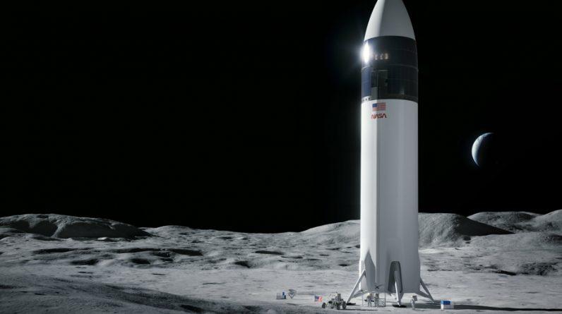 Moon landing block |  Considered NASA's SpaceX exam regulator