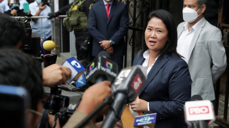 President of Peru |  Fujimori insists he will not recognize his rival's success