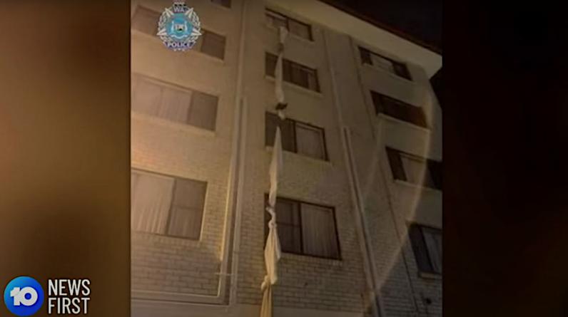 The Australian man escapes isolation through the window