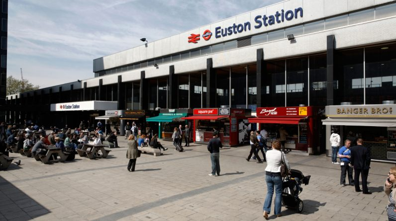The London Euston station was closed following a 'severe attack' as armed police blocked the travel center