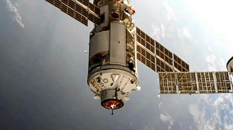 The space station ISS was launched out of orbit by the Russian block Nauka