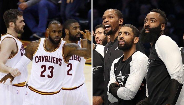 Le Big 3 des Brooklyn Nets, composé de Kevin Durant, James Harden et Kyrie Irving, ferait bien de s'inspirer de celui des Cleveland Cavaliers, qu'il formait avec Kevin Love et LeBron James
