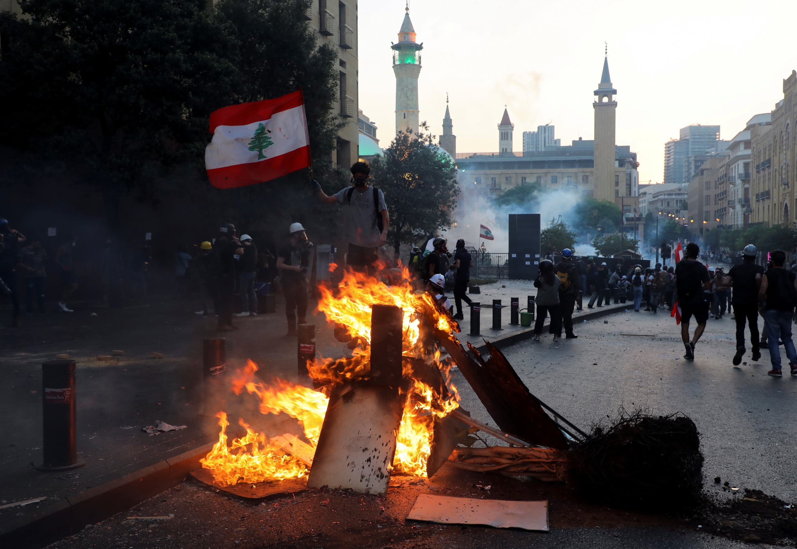 From the struggles that took place today in Beirut
