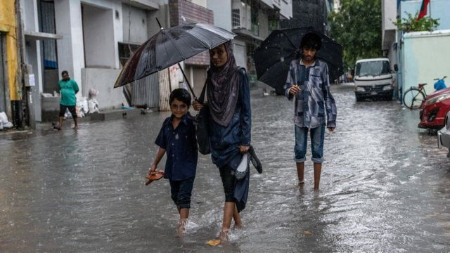 From the floods in the Maldives