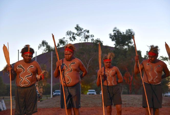 On May 23, 2017, tribal dancers at the start of a summit in Uluwatu, Northern Territory.