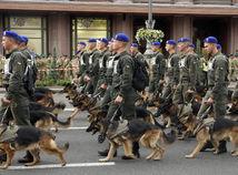 Military dog handlers in Kiev, Ukraine
