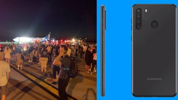 Exploding Samsung smartphone: Emergency landing plane.!