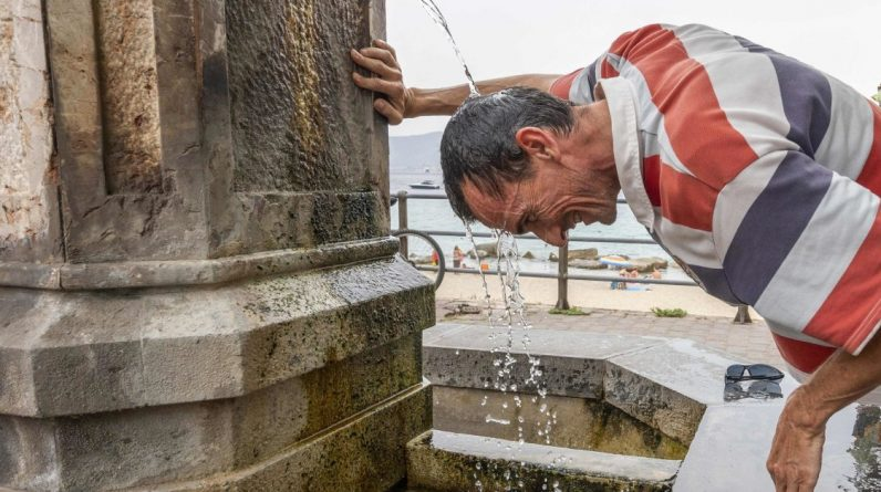 Italy holds the European heat record