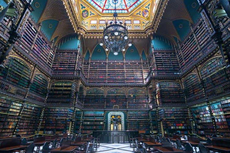Royal Portuguese Reading Cabinet, Rio de Janeiro, Brazil