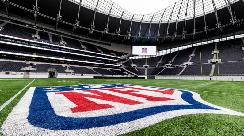 Five French guests at the NFL United International in London in October