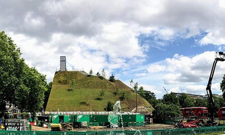 Le site de construction de MArble Arche Mound