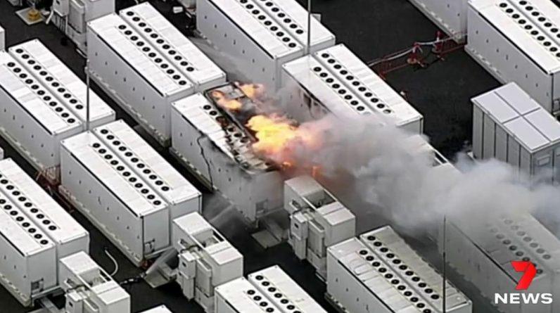 Une batterie géante Tesla prend feu en Australie