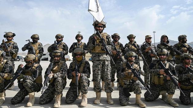 The Taliban control the arsenal left by the Americans
