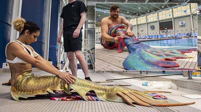 """These Americans kept their interest in angels alive during the Mermaid: """"This tail costs between $ 2,000 and $ 3,000"""""""