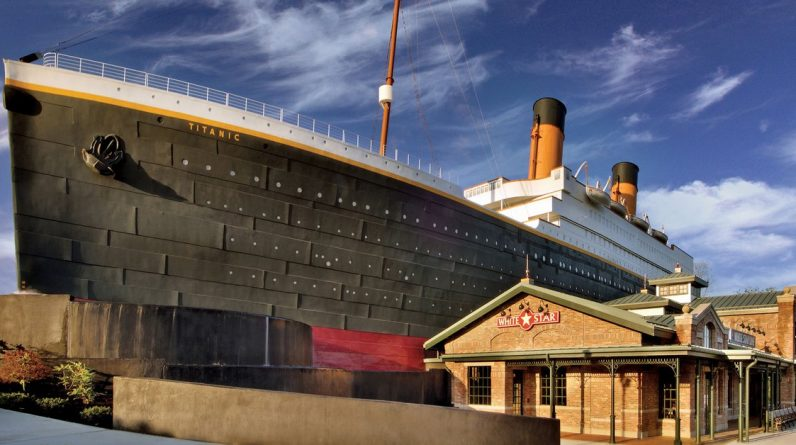 Three people were injured when a wall simulating a glacier collapsed at the Titanic Museum