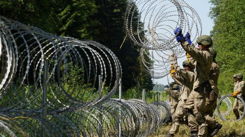Vilnius says Belarusian border guards broke the border and drove immigrants to Lithuania