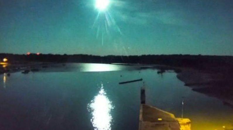 A meteorite has crossed Brittany's sky