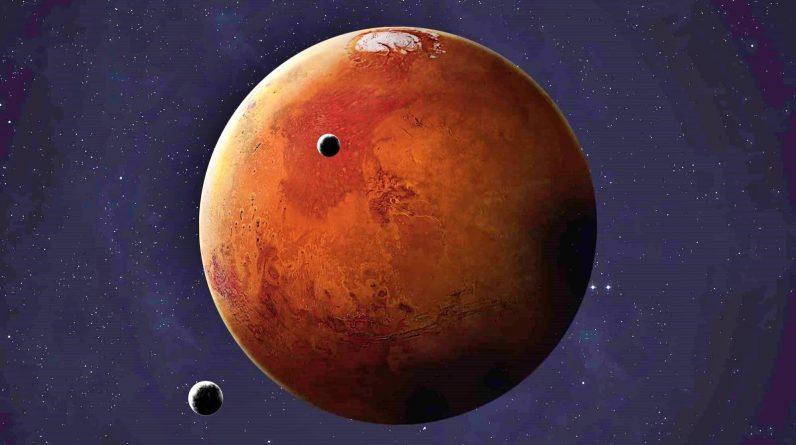 Planeta Marte santuri